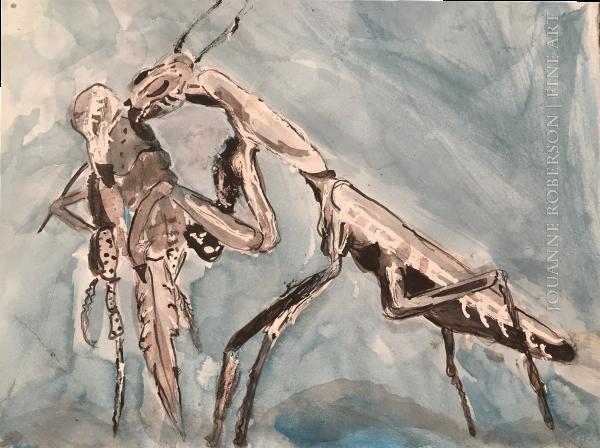 """Jouanne Roberson, """" Requiem for the Pray"""". Ink Wash on Bristol, modern art, art"""