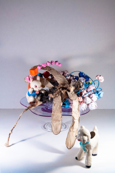 "Jouanne Roberson, ""My My, Dragonfly is Ravenous"". Mixed-Media Sculpture, sculpture, Assemblage, installation, modern art, art"