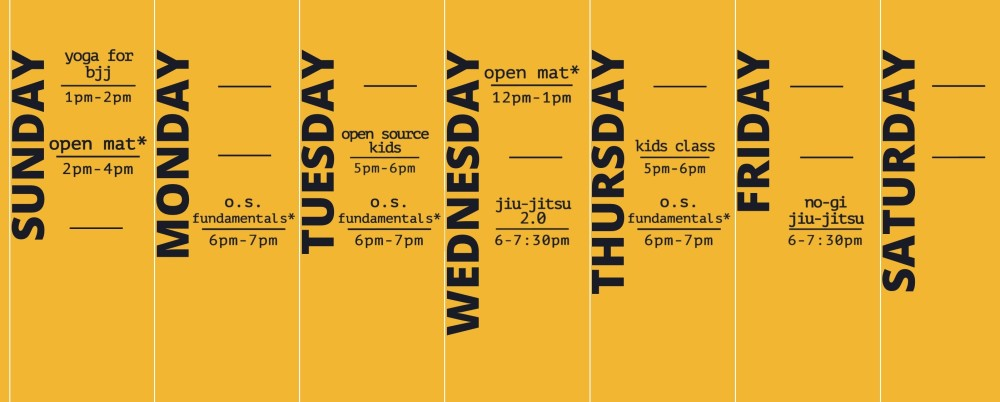 jiu jitsu schedule - open source jiu jitsu asheville schedule