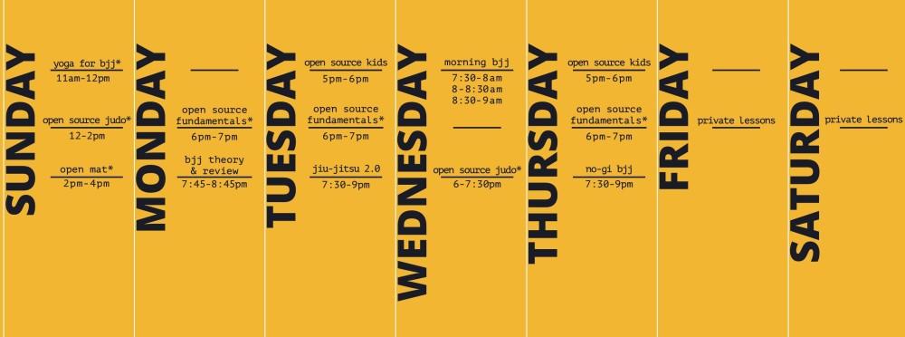 jiu jitsu schedule - open source jiu jitsu asheville schedule