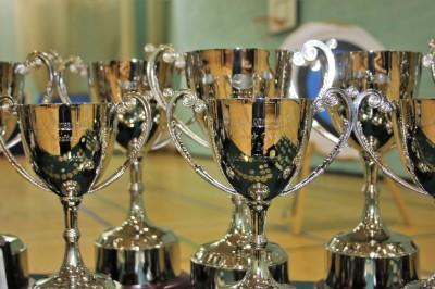 Trophies up close