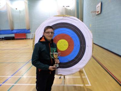 Alex U14 Recurve, Indoor Improvement and Overall Junior Champion