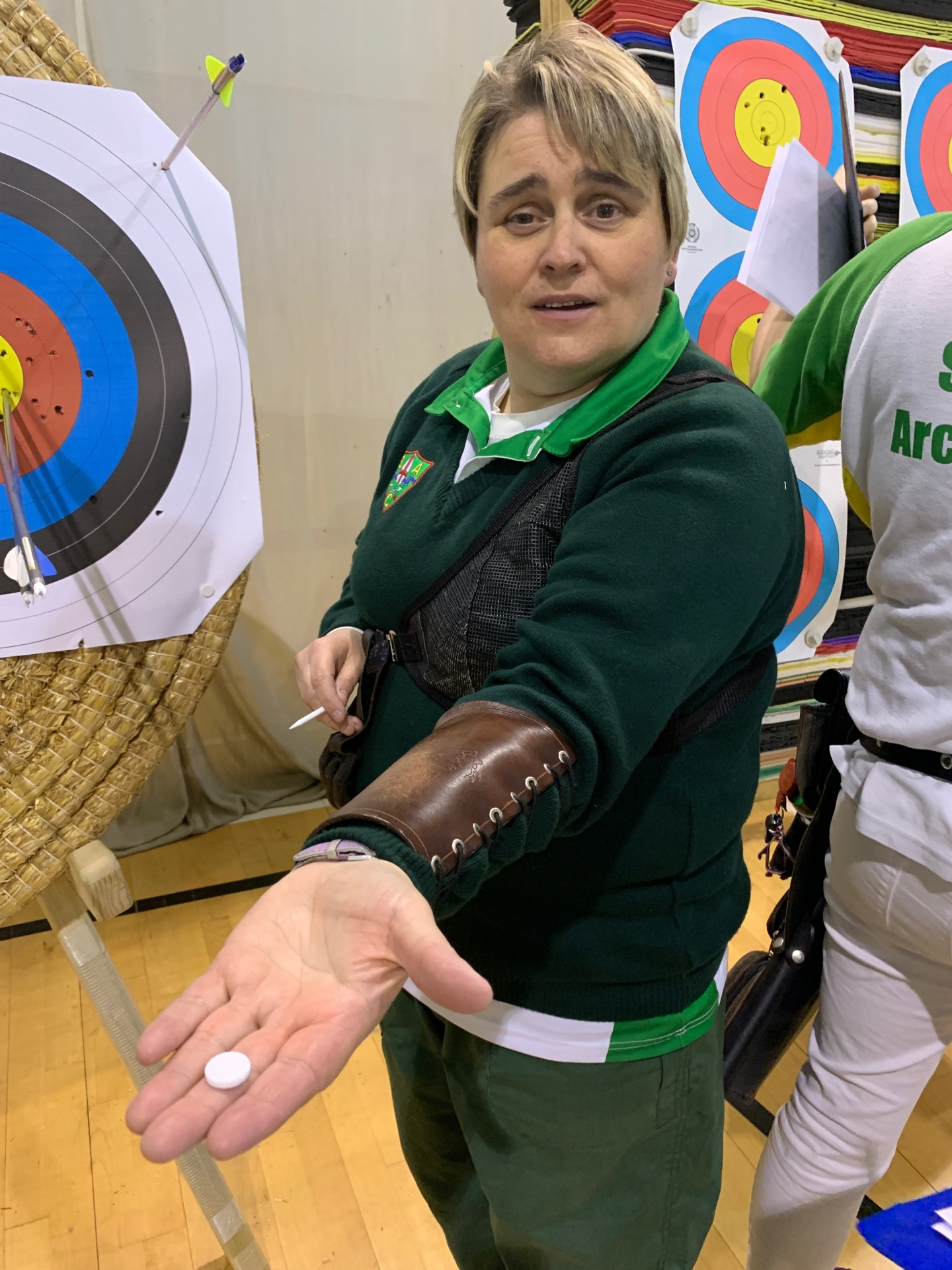 Katharine killed the target pin