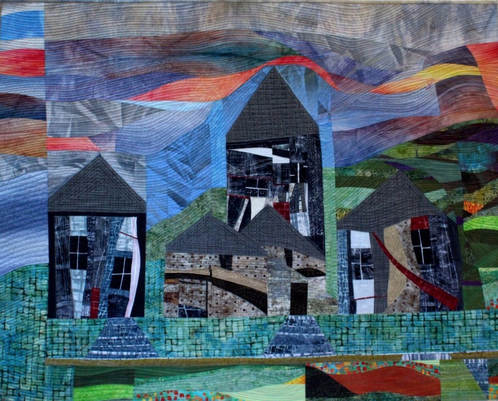 Village at the end of the road quilt