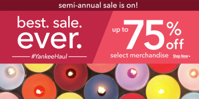 Yankee Candles Sale!!!! Up to 75% off