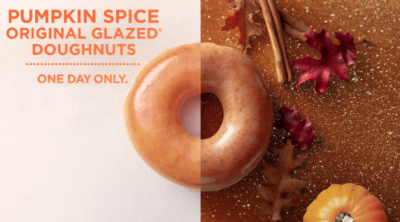 Krispy Kreme: Pumpkin Spice Original Glazed Doughnuts on 10/6!