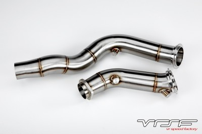 "VRSF S55 3"" Cast Stainless Steel Catless Downpipes"