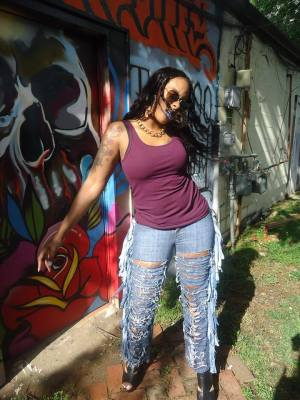 #YouniqueDesignz #FringeJeans #Customdenim #Fashion #StreetFashion