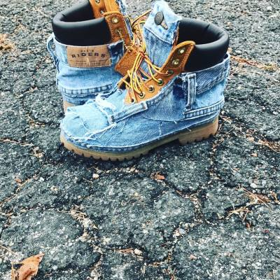 #YouniqueDesignz #DenimTimberlands #urban #Fashion #denimlife #Denimfashion
