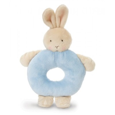 Bunny Ring Rattle - Blue