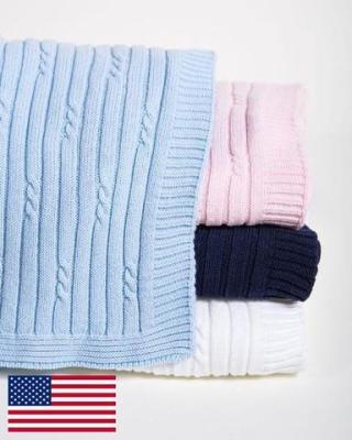 Cable Rib Blanket