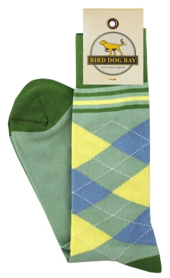 Green Argyle Socks
