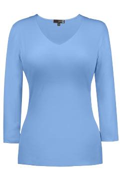 Judy P V-Neck 3/4 Sleeve - Azure