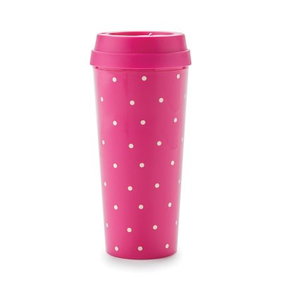 Kate Spade Larabee Dot Pink Thermal Mug