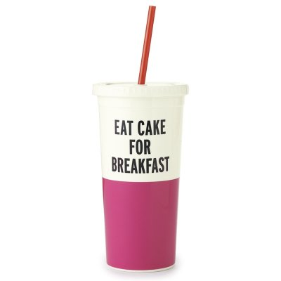 Kate Spade Eat Cake Tumbler with straw 20 oz