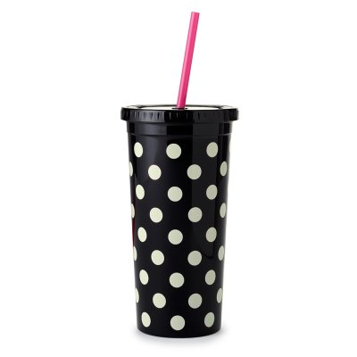 Kate Spade Le Pavilion Tumbler with straw 20 oz