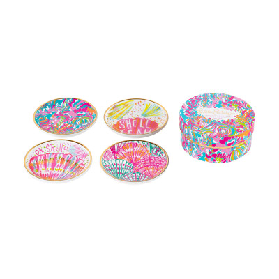 Lilly Pulitzer Ceramic Coaster Set