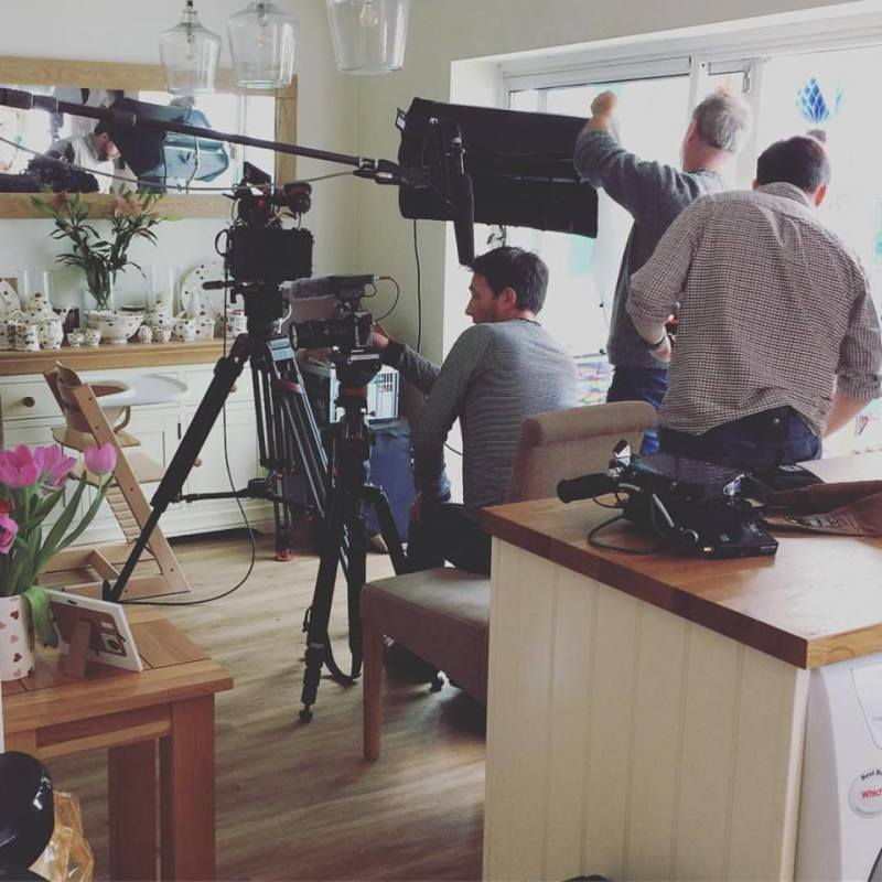Its not every day you have a film crew round your house!
