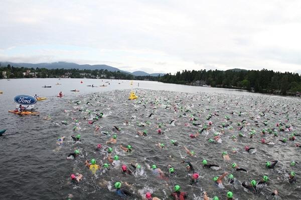 IM Lake Placid Swim Start