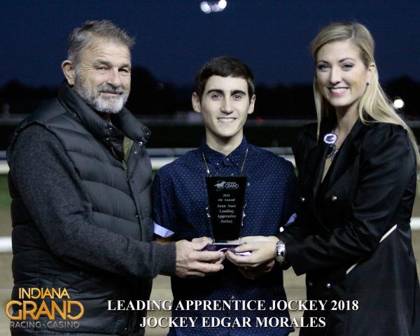 Edgar Morales Named Leading Apprentice Jockey at Indiana Grand Racing & Casino
