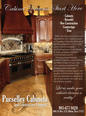 Purselley Cabinets Magazine Ad