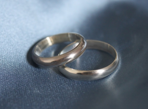 sterling silver wedding bands