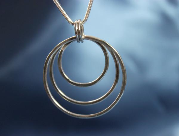 Three Free Moving Circles Pendant