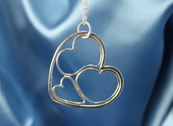 Three Hearts in One Pendant