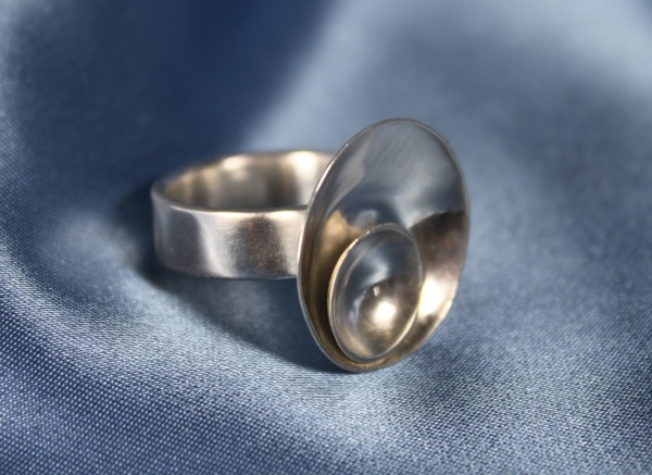 sterling silver domed ring