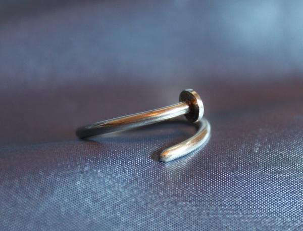 sterling silver nail ring