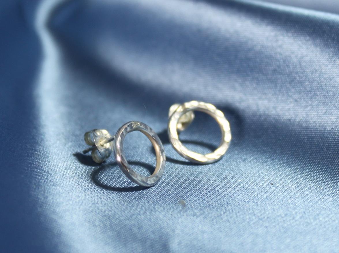 Large circular earrings