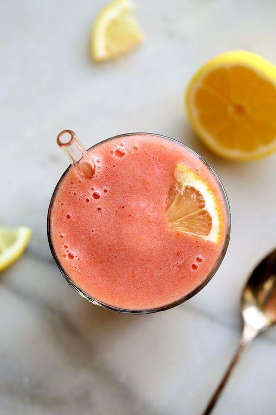 Vibrant Pink Lemonade Smoothie