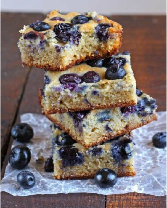Paleo BlueBerry Bars