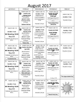 August Activites