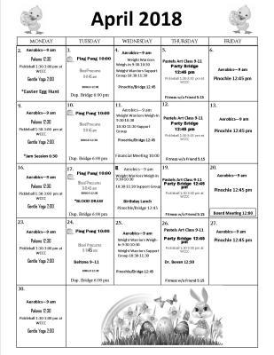 April Activities