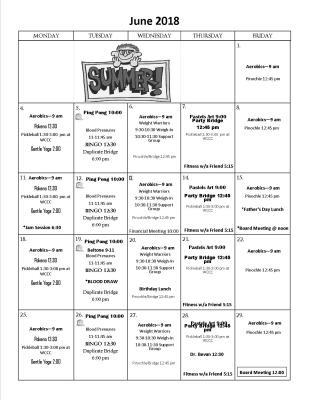 June Activities