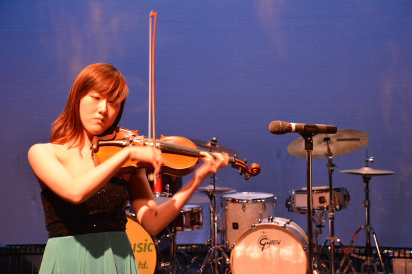Carol Playing violin