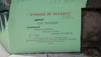Change of Seasons Mural - Moscow, PA
