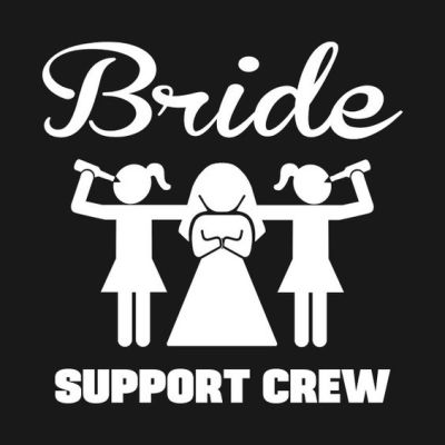Bride support crew t-shirt