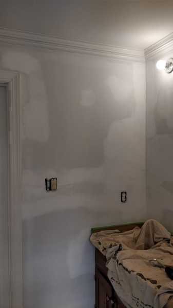 Wall Repaired and Sanded
