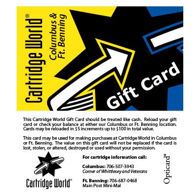 Cartridge World Gift Card