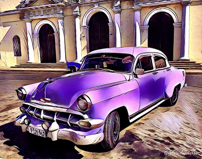 The Purple Taxi