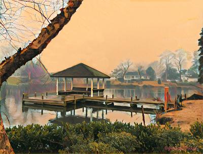 Sundown on Silver Lake