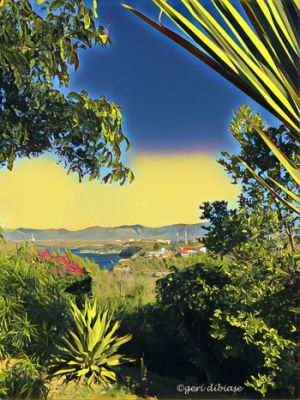Looking toward the Sierra Maestra, Santiago de Cuba