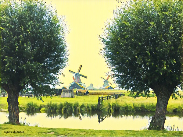 Approaching Zaanse Schans, Outside Amsterdam