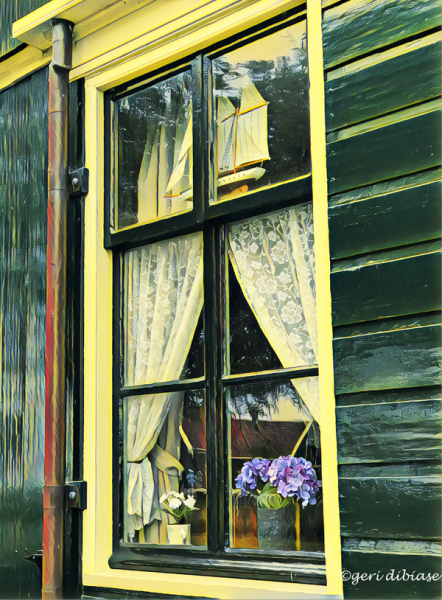 Window on Zaanse Schans