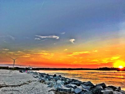Sunset at Roosevelt Inlet