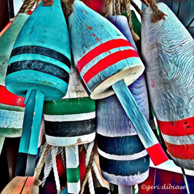 Buoys in Blue