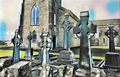 Celtic Crosses in County Clare
