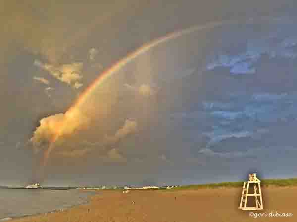 Rainbow over Lewes Beach
